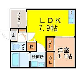 中区新栄三丁目デザイナーズ(ナカクシンサカエ)[3階]の間取り