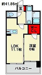 フェルト127 4階1LDKの間取り