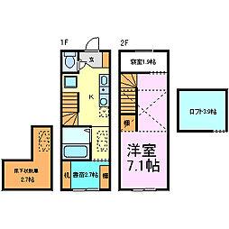 [テラスハウス] 愛知県半田市青山4丁目 の賃貸【/】の間取り