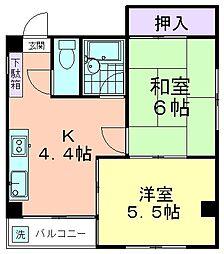 サンコーポ久米川[202号室]の間取り