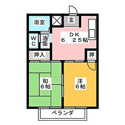 シティハイツ佐藤[2階]の間取り