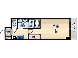 ブラントワール茨木[6階]の間取り