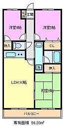 埼玉県さいたま市緑区東浦和1丁目の賃貸マンションの間取り