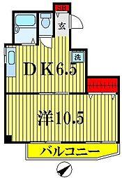 ハイツ栄[3階]の間取り