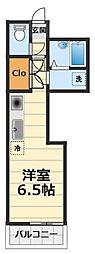 神奈川県大和市西鶴間4丁目の賃貸マンションの間取り
