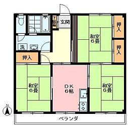 武蔵関アパート2号棟[207号室]の間取り