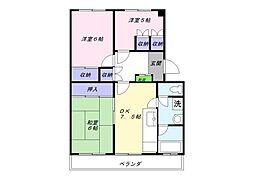 サンモール常盤平[3階]の間取り