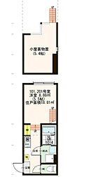 東京都世田谷区太子堂4丁目の賃貸アパートの間取り