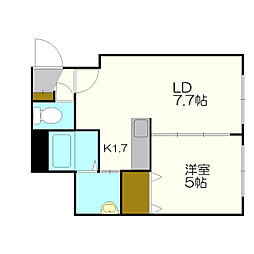 ブランノワールAMJ南郷[2階]の間取り