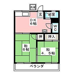 コーポ弥生[2階]の間取り