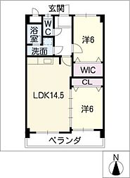 ファミール上野[2階]の間取り