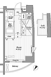 ブランシック白金台[7階]の間取り
