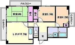 兵庫県神戸市東灘区魚崎北町8丁目の賃貸マンションの間取り