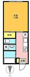 東京都世田谷区梅丘2丁目の賃貸アパートの間取り