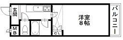 「エンゼルプラザ彦根4」〜落ち着いた街並み 城下町〜[1304号室]の間取り