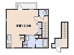[テラスハウス] 広島県広島市佐伯区隅の浜1丁目 の賃貸【/】の間取り