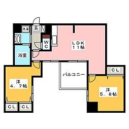 modern palazzo 姪浜 ルレイル[8階]の間取り