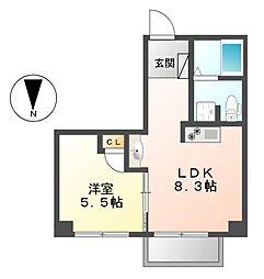 33アベニュー[2階]の間取り
