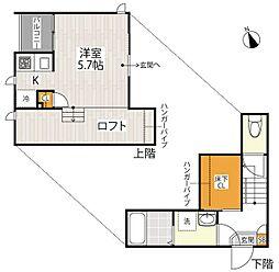 JR高崎線 宮原駅 徒歩13分の賃貸アパート 1階1Kの間取り