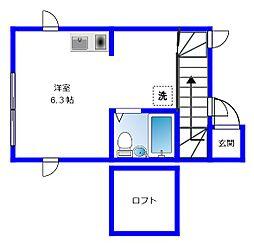 ホークハイム[2階]の間取り