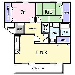 大阪府茨木市郡3丁目の賃貸マンションの間取り