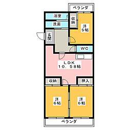 ロイヤルパレス[3階]の間取り