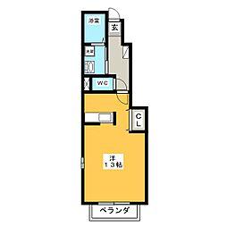 セントレアB[1階]の間取り