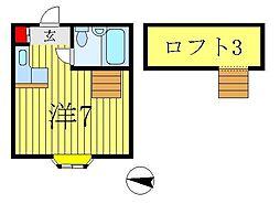 エルティオ新松戸[2階]の間取り