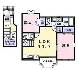 フラワITA[2階]の間取り