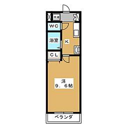 ラジョーネ四条[5階]の間取り