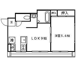 小田マンション[1階]の間取り