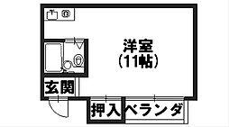 京都府向日市寺戸町飛龍の賃貸マンションの間取り