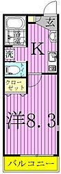 ファースト松戸[301号室]の間取り
