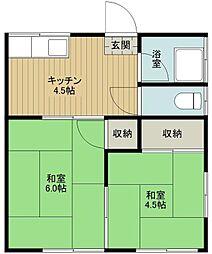 藤田荘[1階]の間取り