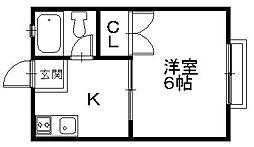 「ジラソーレプリモ」〜ツタヤやコンビニ近く好立地〜[201号室]の間取り