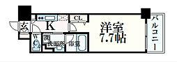 JR大阪環状線 大阪駅 徒歩10分の賃貸マンション 3階1Kの間取り