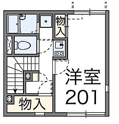 千葉県松戸市稔台3丁目の賃貸アパートの間取り