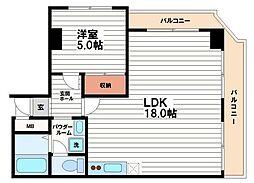 グランドール心斎橋[8階]の間取り