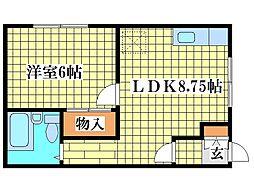 谷浦マンション[2階]の間取り
