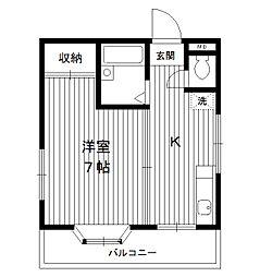 東京都板橋区小茂根3丁目の賃貸マンションの間取り