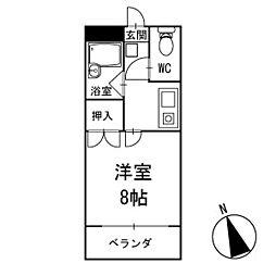 グリーンカワバタ 1階[101号室]の間取り