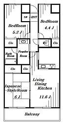 ダイアパレス稲毛II[4階]の間取り