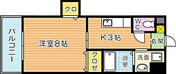 クレール花音[203号室]の間取り