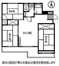 鶴見台第二ビル[202号室]の間取り