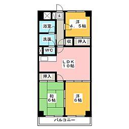 リバーサイドマンションM[3階]の間取り