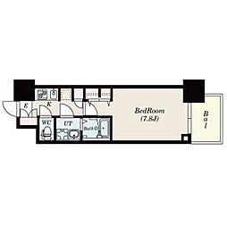 名古屋市営名城線 黒川駅 徒歩3分の賃貸マンション 9階1Kの間取り