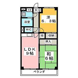 プロニティ南吉成[2階]の間取り
