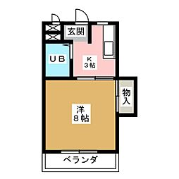 サンライフ杁ヶ池[1階]の間取り