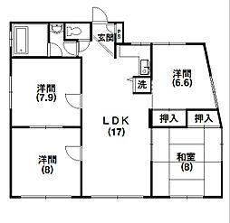 マンションマツシタIII[1階]の間取り