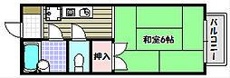 大阪府富田林市向陽台5丁目の賃貸アパートの間取り